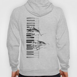 hands of a pianist playing music on the piano Hoody