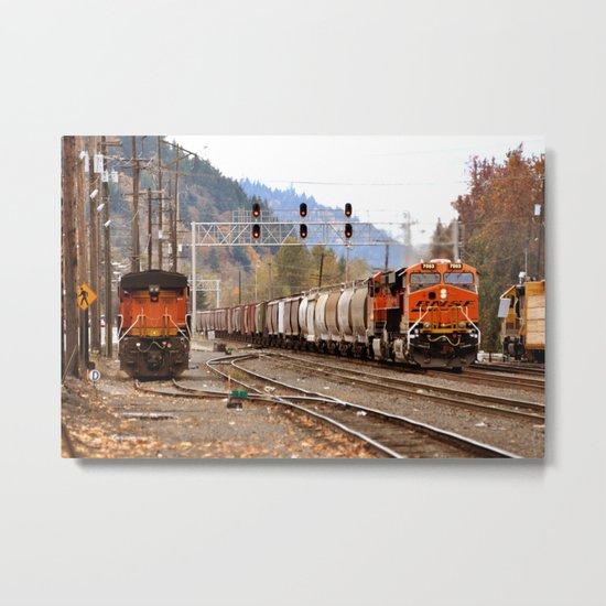 TRAIN YARD Metal Print