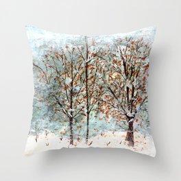 Snow Storm up Dewdrop Holler Throw Pillow