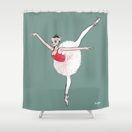 CoolNoodle practice ballet Shower Curtain