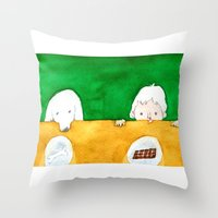 chocolate Throw Pillows featuring Chocolate by Satoshi OTA