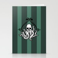 cthulhu Stationery Cards featuring Cthulhu by MyOwlHasAntlers