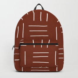 Rust Mudcloth Backpack
