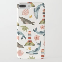 Lighthouses, Seals, and Whales iPhone Case
