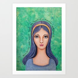 Warrior Goddess Art Print