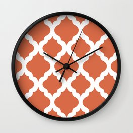 Red rombs Wall Clock