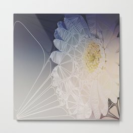 Webbed Flower Metal Print