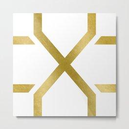 Crossed X Gold Metal Print