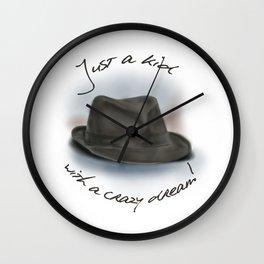 Hat For Leonard Cohen, Crazy Dream Kid Wall Clock
