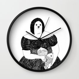 Mrs. Seal reflects on her diet Wall Clock