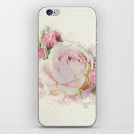 Watercolor Pink Rose iPhone Skin
