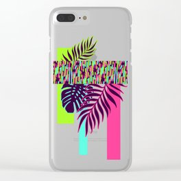 Neon Exotic #society6 #tropical Clear iPhone Case