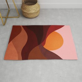 Abstraction_Mountains_SUNSET_Minimalism Rug