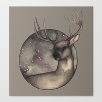 antlers Canvas Prints featuring Antlers by Ericaphant