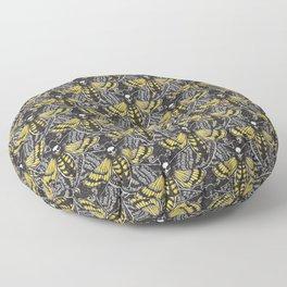 death's head  hawkmoth Floor Pillow