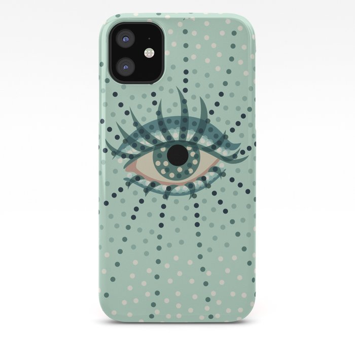 Abstract Eye With Dots iPhone Case