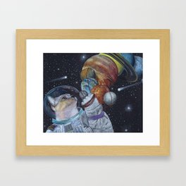 Cat in Space Framed Art Print