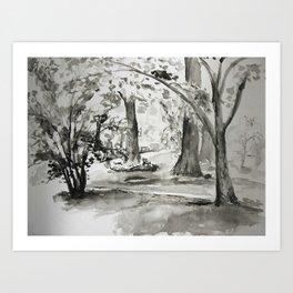 Spring Morning. Art Print