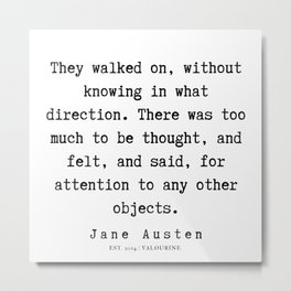 94    | Jane Austen Quotes | 190722 Metal Print
