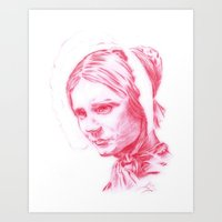 jane eyre Art Prints featuring Jane Eyre glowing by Jonathan Snowden
