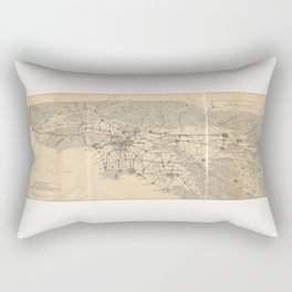 Vintage 1915 Los Angeles Area Map Rectangular Pillow