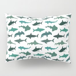 Green Sharks Pillow Sham