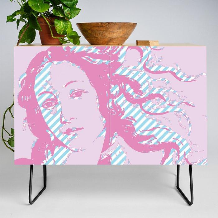 Rebirth of Venus - Pink & Cyan - Trans Pride! Credenza