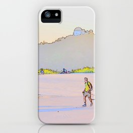 Hiking in the fading light iPhone Case