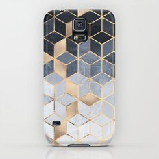 Soft Blue Gradient Cubes Slim Case Galaxy S5