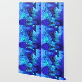 Violet Blue - Abstract Art By Sharon Cummings Wallpaper