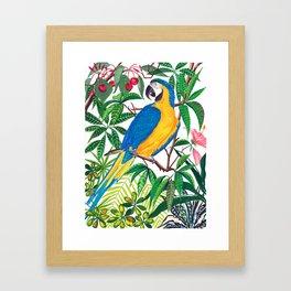 Tropical parrot print Framed Art Print