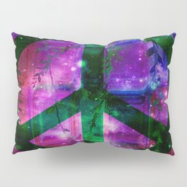 Peace symbol and infused colors Pillow Sham