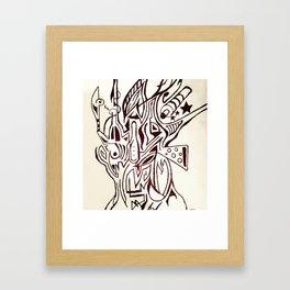 Distorted Face Framed Art Print