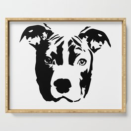 Pit Bull Terrier Dog Serving Tray
