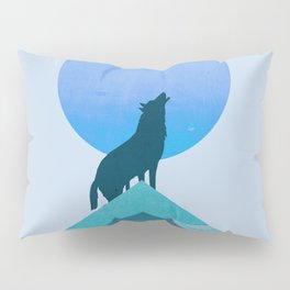 Abstraction_BLUE MOON_WOLF_FOREST_Minimalism_001 Pillow Sham