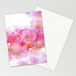 Japanese Sakura Tree with Pastel Pink Blossoms Stationery Cards