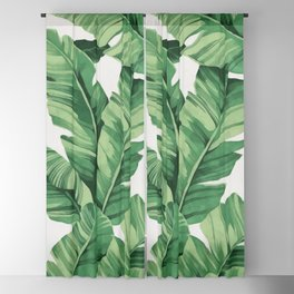 Tropical banana leaves Blackout Curtain