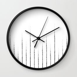Lines in white Wall Clock