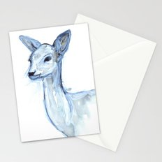 Portrait of a Doe in Blue Stationery Cards