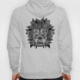 Tribal Inspired Lion ink illustration Hoody