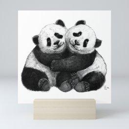 Panda's Hugs G143 Mini Art Print
