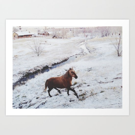 Winter Hill Horse Art Print