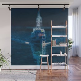 Ghostship with shipping ghosts  Wall Mural