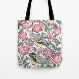 Doves & Wild Roses Tote Bag