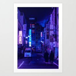 Tokyo Nights / Red Light District / Liam Wong Art Print