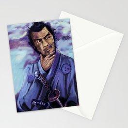 Toshiro Mifune digital painting. Stationery Cards