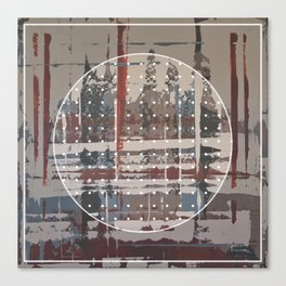 Waterlogged - dot graphic Canvas Print
