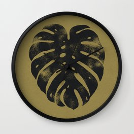 Botanical Monstera Leaf 01 - Ink & Willow Wall Clock