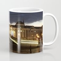 moscow Mugs featuring Night Moscow. by Mikhail Zhirnov