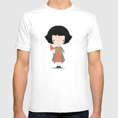 Amelie SMALL Mens Fitted Tee White